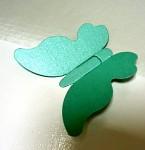 Motýlek - jmenovka, dekorace - mátový