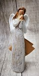 Anděl stojící malý - přírodní glitr