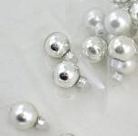 Baňky sklo závěs - 25mm - stříbrná