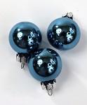 Baňky sklo závěs - 25mm - modrá