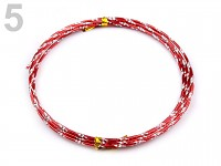 Hliníkový dekorační drátek efekt - jasně červený - 2 m