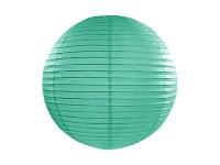 Lampion kulatý 20 cm - zelenomodrý