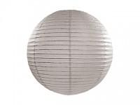 Lampion kulatý 20 cm - šedý