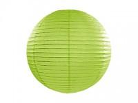 Lampion kulatý 20 cm - sv.zelený