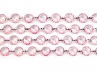 Girlanda diamanty - sv.růžové - 1 m