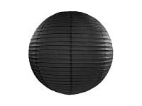 Lampion kulatý 25 cm - černý