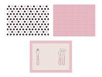 Papírové prostírání - růžové - 6ks
