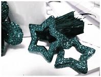 Hvězda dutá - černá glitter