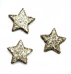 Hvězdička malá plochá - champagne glitter - 1ks