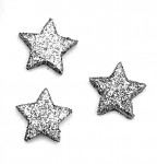 Hvězdička malá plochá - stříbrná glitter - 1ks