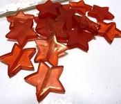 Korálky - mix hvězdy červené 20ks