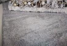 Štola - ubrus s flitry stříbrný - 150 cm