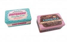 Plechová dóza na cukrovinky - vintage