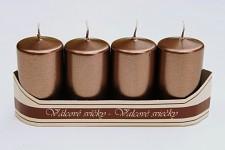 Adventní svíce - tm.hnědé metalické