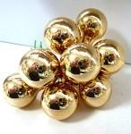 Baňky na drátku zlaté 25 mm - 1ks - lesklé