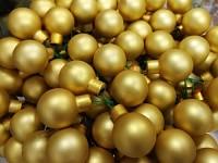 Baňky na drátku zlaté 25 mm - 1ks - matné