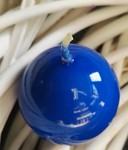 Svíčka koule - tm.modrá lakovaná malá - 45mm