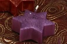 Plovoucí svíčka - hvězda fialová metalik