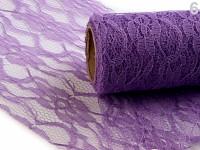 Krajka dekorační fialová - 15cm /4,5m