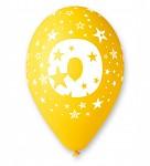 Narozeninové balonky - číslo 0 - mix barev