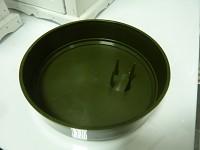 Aranžovací miska na oasis kulatá - zelená 14 cm