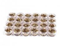 Flitry lomené zlaté  6mm - v krabičce 5g