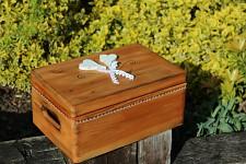Dřevěná krabička na přání tmavá (peníze) - srdcovka