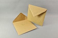 Obálka barevná čtverec 130 mm - natur hnědá