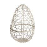 Kovový košík ve tvaru vejce - 21 cm