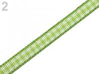 Stuha károvaná 5 mm - sv.zelená - 1 m