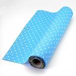 Jutová šerpa modrá  - s bílými puntíky - 1 m