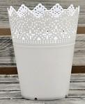 Plastový krajkový obal malý - bílý