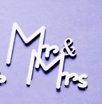 Chipboard - výsek - Mr. and Mrs.- 3 ks