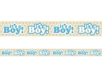 Girlanda papírová - je to kluk - 6m