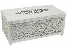 Plechová krabička na kapesníky - bílá