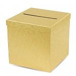 Krabička na peníze (přání) - zlatá