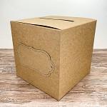 Krabička na peníze (přání) - kraftová s kartou bez nápisu