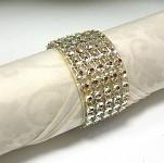 Diamantový kroužek na ubrousky sv.zlatý - 1 ks