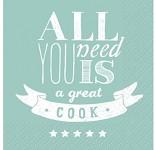 Ubrousky vintage - mátové - great cook
