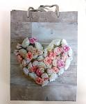 Dárková taška - srdce z pivoněk - velká