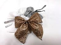 Mašlička mini glitter - champagne