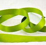 Stuha saténová 24 mm - hráškově zelená  - 1 m