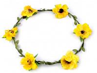 Věneček s malinovými růžičkami