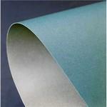 Tvrdý oboustranný papír - modrá/stříbrná - A4