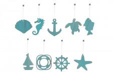 Dřevěný námořnický závěs - mix motivů - 1 ks