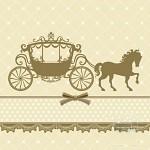 Ubrousky - svatební kočár