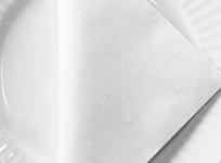 Ubrousek 40x40 cm - Airlaid bílý - 1ks