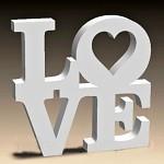 Polystyrenový nápis LOVE - maxi 50x50 cm