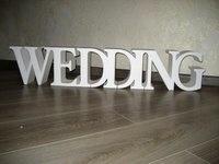 Polystyrenový nápis Wedding - 100 cm