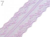 Krajka syntetická 37 mm - sv.fialová - 1 m
